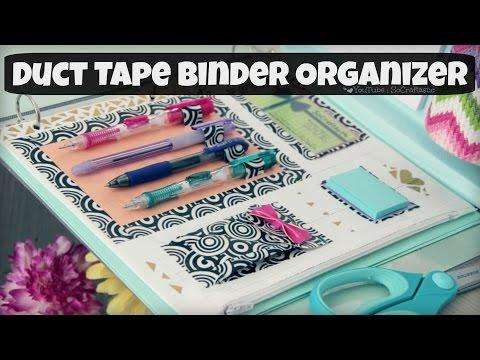 DIY Binder Organizer // Duct Tape Zipper Pouch & Pen Holder // Back-To-School