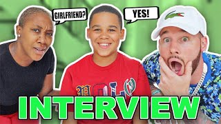 INTERVIEWING OUR 10 YEAR OLD SON