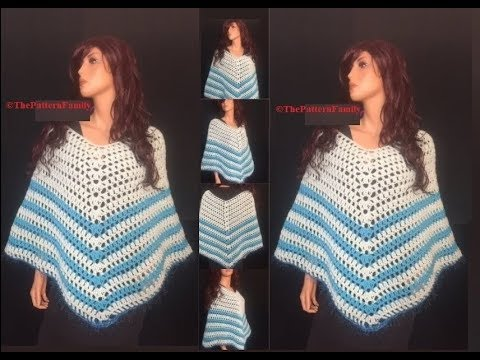 How To Crochet A Poncho Pattern 487by Thepatternfamily Youtube