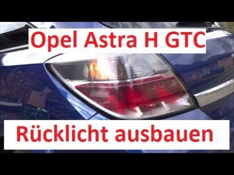 opel astra h gtc rücklicht ausbauen / wechseln / birne wechseln