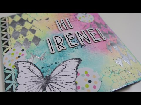 Mixed-media Flipbook for Irene :) PROCESS