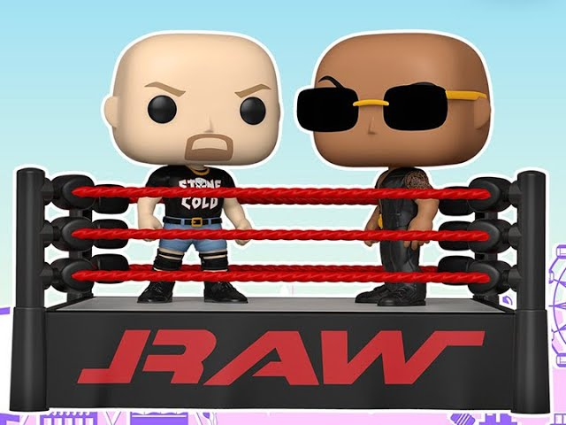 Figure Review - The Rock v Stone Cold Wrestling Ring Pop! Moment