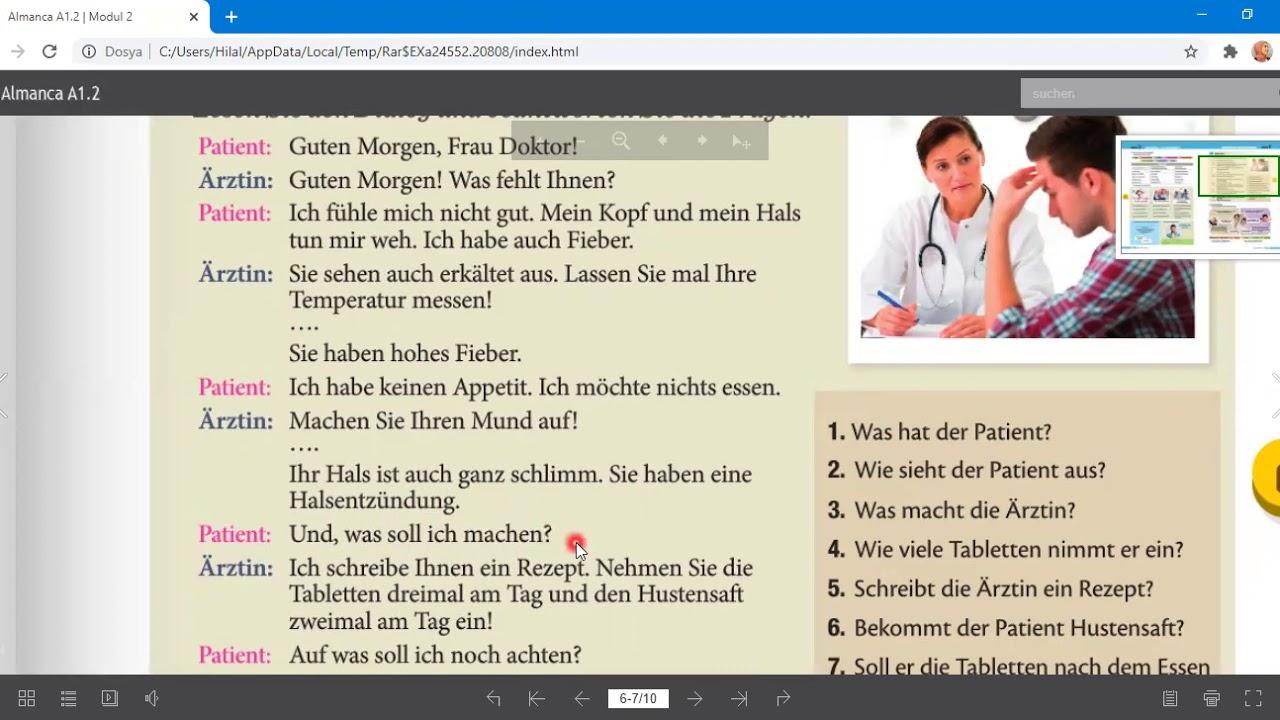 11. SINIF ALMANCA Deutsch macht Spaß A1 2 Kitabı 2. Ünite Sayfa 27 Konu Anlatım Videosu
