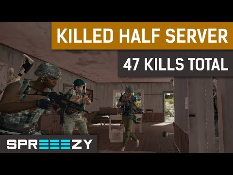 47 Kills SQUAD | Killed HALF of the Server | sprEEEzy - Fuzzface - Larsen - Aitzy