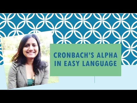 Cronbach's alpha or