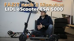 FAZIT nach 3 Monaten - LIDL eScooter ESA 5000