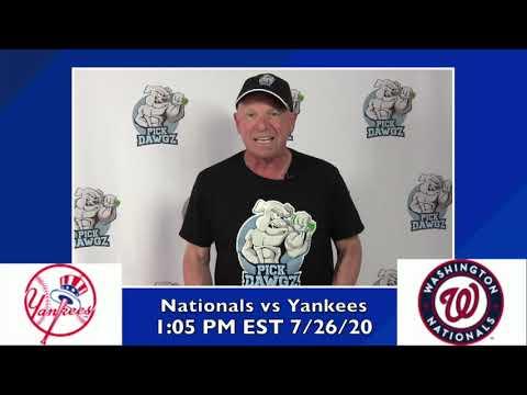 New York Yankees vs Washington Nationals Free Pick 7/26/20 MLB Pick and Prediction