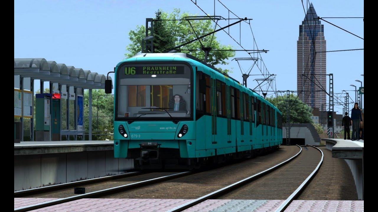 let 39 s play train simulator 2015 009 hd u bahn frankfurt am main frankfurt youtube. Black Bedroom Furniture Sets. Home Design Ideas