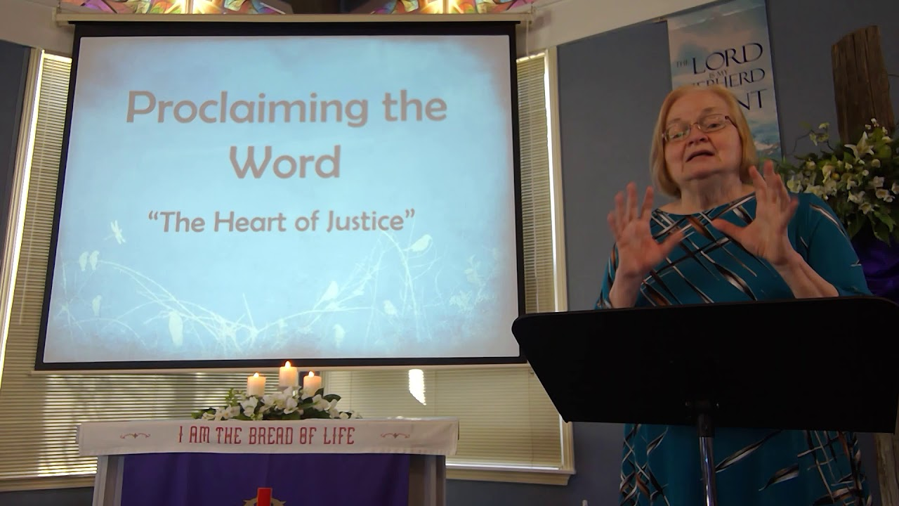 """March 14, 2021 ~ Rev. Julia Price ~ """"The Heart of Justice"""""""