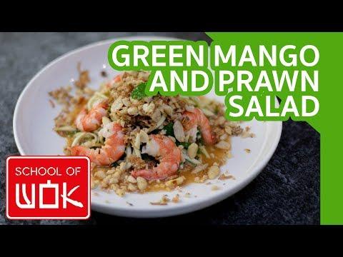 Fresh Vietnamese Green Mango And Prawn Salad Recipe! | Wok Wednesdays