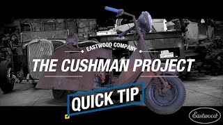 Quick Tip - Cutting an Accurate Hole in a Metal Patch Panel - Cushman Taillight Fitment - Eastwood