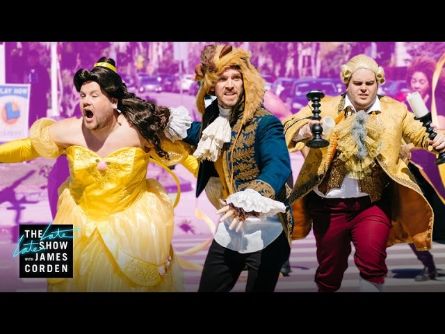 James Corden recrea el musical de 'Beauty and the Beast'