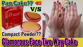 Glamorous Face Two Way Cake Compact Powder V S Pan Cake which works better Essentials by Sarah