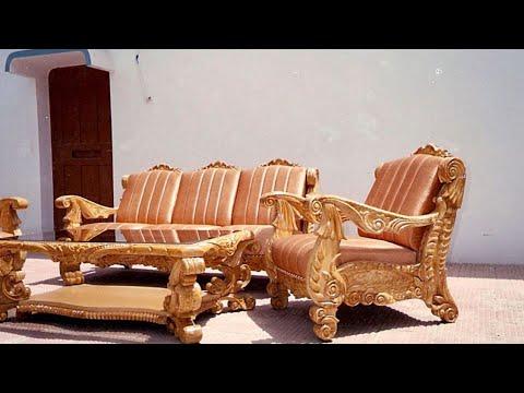Teak Wood Sofa Set Design Carvin, Carpenter Teak Wood Sofa Set Designs Pictures