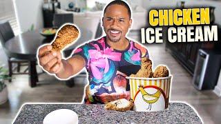 Trying Ice Cream Chicken    Taste Test   Alonzo Lerone