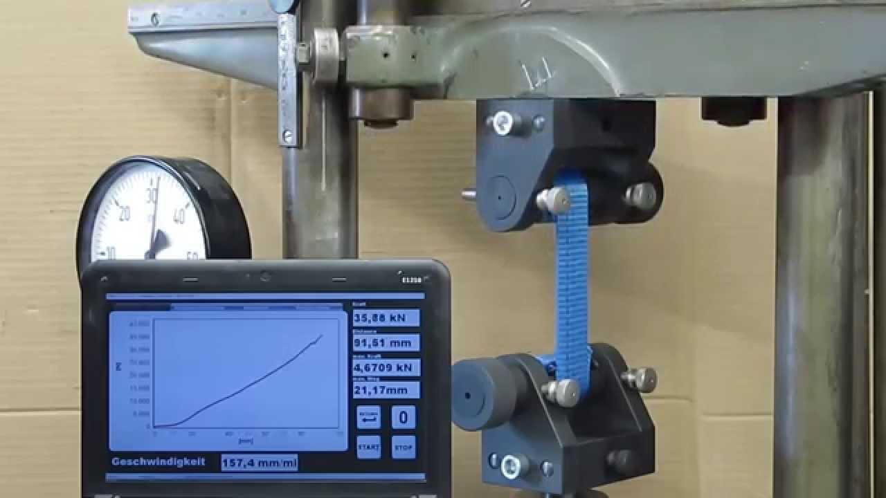 Tape Measure Test >> ASTM D3759 Tape Tensile Strength + Elongation - YouTube