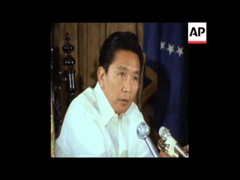 SYND 21-1-73 PRESIDENT MARCOS OF PHILIPPINES SPEAKS ON NEW REGIME