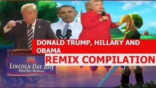 Donald Trump Bing Bong, Hillary Barking and Obama Stuttering - REMIX COMPILATION