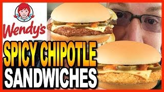 Wendy's Spicy Chipotle Jr. Cheeseburger And Spicy Chipotle Crispy Chicken