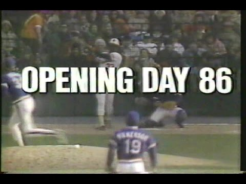 1986 Baltimore Orioles Opening Day vs. Cleveland Indians