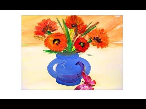 Как нарисовать, Ваза с цветами,  для детей, Draw a picture, Vase with flowers, for kids