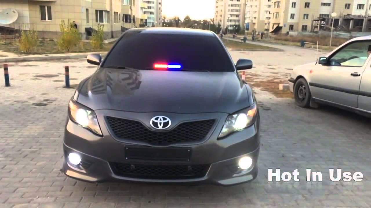 best police strobe lights and siren - YouTube