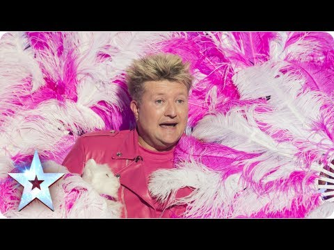 Stevie Pink makes a motorbike appear out of thin air!  SemiFinal 3  Britain's Got Talent 2013