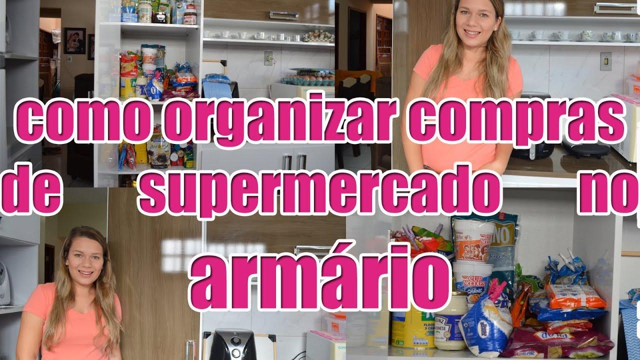 Como organizar compras de supermercado no arm rio - Como organizar un armario pequeno ...