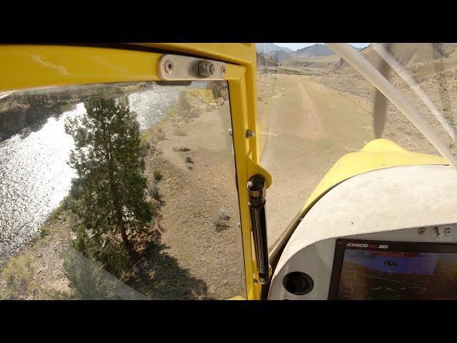Approach to Bernard Airstrip U54 Idaho Backcountry