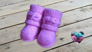 Boots style Uggs tricot bébé 1/2 Uggs baby boots knit (english subtitles)