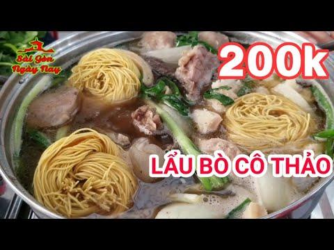 Quán Lẩu lâu năm Ngon và Rẻ nhất Quận 10 Sài Gòn (lẩu bò Cô Thảo)