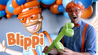 Blippi Visits the Balloosionist! | Learn About Rainbow Colors | Educational Videos For Kids