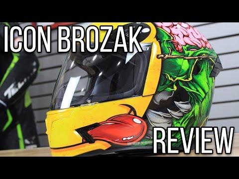 Icon Airframe Pro Brozak Helmet Graphic Review from Sportbiketrackgear.com
