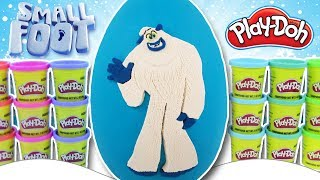 GIANT Smallfoot EGG SURPRISE PLAY DOH ❄️ with Migo, Percy, Meechee, Stonekeeper, Fleem & MORE Toys!
