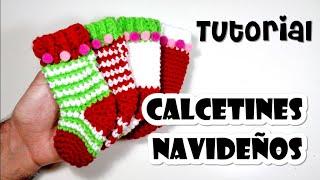 DIY CALCETINES NAVIDEÑOS crochet/ganchillo - Calendario de adviento Tutorial paso a paso en español
