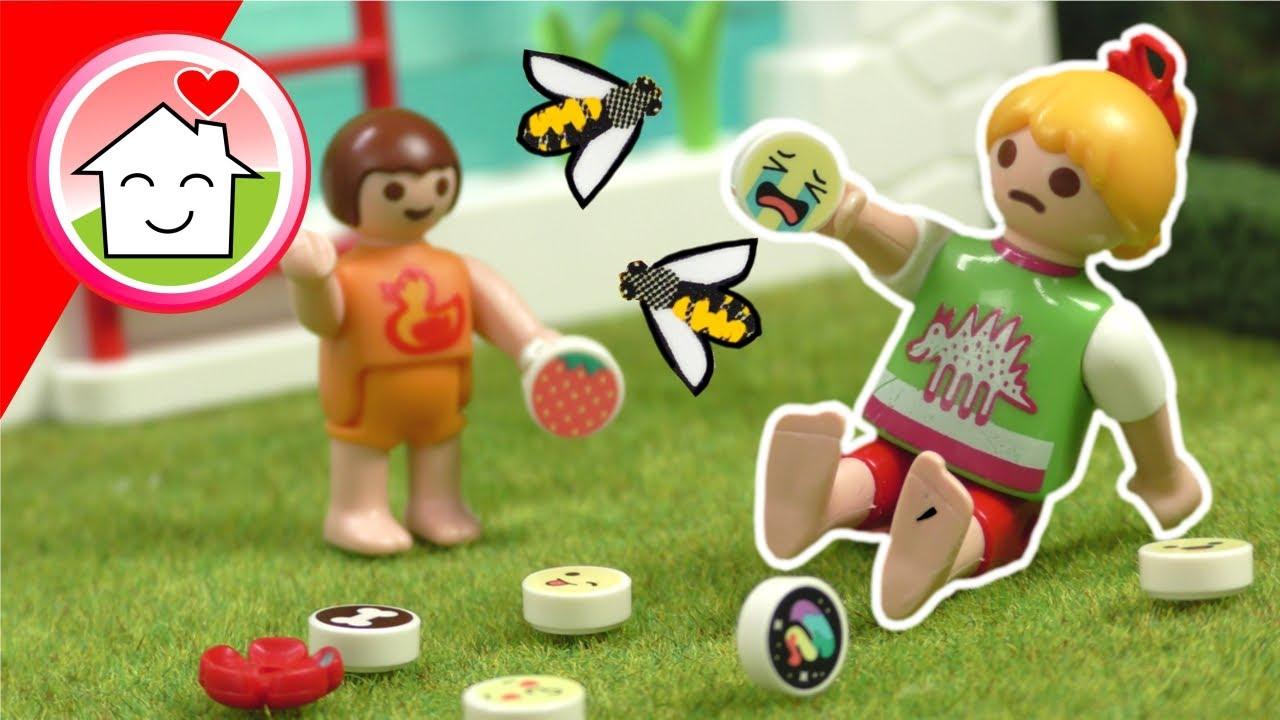 Playmobil Familie Hauser - Der Bienenstich - Geschichte mit Anna und Lena