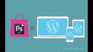 Convert the PSD into WordPress website part 2