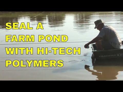 SEAL A FARM POND WITH HI TECH POLYMERS - YouTube
