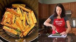 Air Fryer Zucchini Fries - Keto No Breading
