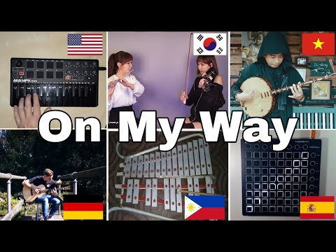 Who Played It Better :On My Way - Alan Walker (us,german,vietnam,south korea,spain)