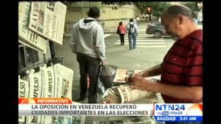 Oposición venezolana gana terreno en el país luego de elecciones municipales