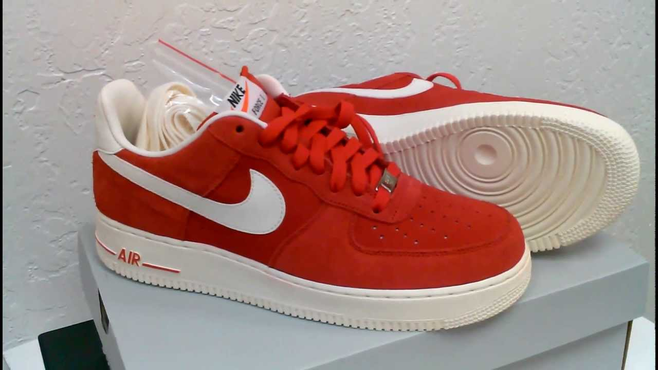 nike air force 1 low red suede