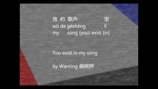 Lyrics! 我的歌声里(You Exist In My Song)by 曲婉婷[Pinyin/Eng]