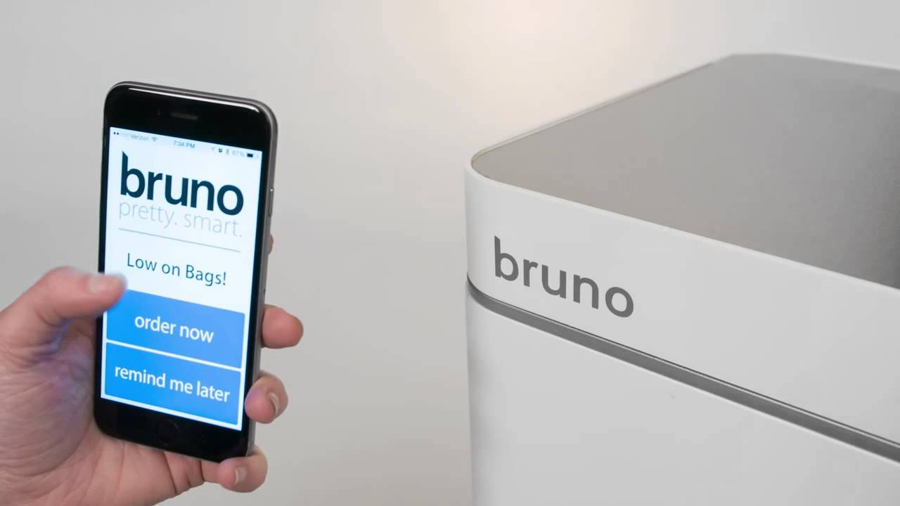 Bruno Smart Trashcan By Poubelle Llc Youtube