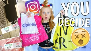 MY INSTAGRAM FOLLOWERS CONTROL MY SHOPPING FOR THE DAY... 😱 *omg*