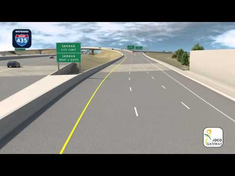 Johnson County Gateway: Westbound I-435 to southbound I-35 improvements