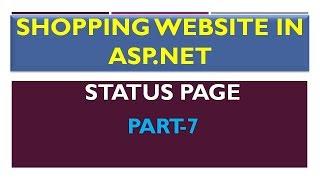 ASP.NET Durum Sayfası oluşturma #7 | Alışveriş Sitesi |