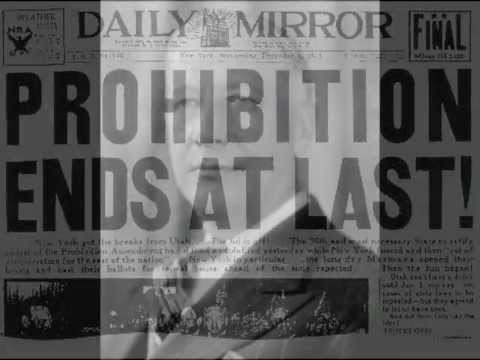 1933: End of US Alcohol Prohibition- Newsreels featuring 3x Gov of NY Al Smith +more