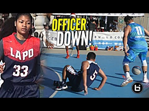 OFFICER DOWN! LAPD Officer Gets Ankles Broken vs VBL! + Officer Everyone Tryina' Get Cuffed By