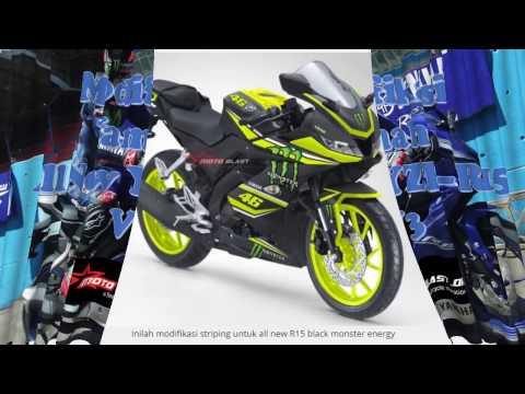 Wn Modifikasi Striping All New Yamaha R15 2017